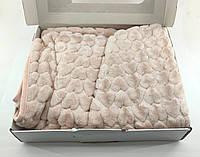 Дитячий плед ковдру Туреччина для новонародженого подарунок новонародженому брудно-рожевий (НДП24)