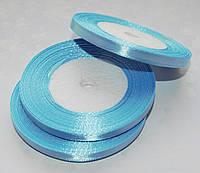 Лента атласная Голубая 0.7 см 23 м/бобина