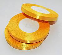 Лента атласная Желтая 0.7 см 23 м/бобина
