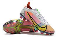 Футбольные бутсы Nike Mercurial Vapor XIV Elite FG White/Metallic Silver/Dark Raisin