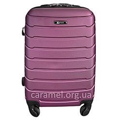 Валіза пластикова на 4х колесах середня M фіолетова   25х65х42 см   3.150 кг   62 л   FLY 1107