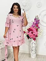 """Сукня жіноча полубатальное з воланом, розміри 46-56 """"VLADA""""купити недорого від прямого постачальника"""