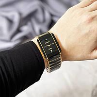Женские наручные черные часы Rado Integral Gold-Black Кварцевый Miyota