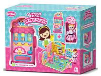 Набор игровой QL059 (12шт) магазин, кукла 10см, в кор-ке, 43,5-32-16см