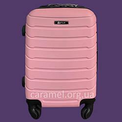 Чемодан пластиковый на 4х колесах средний M светло-розовый | 25х65х42 см | 3.150 кг | 62 л | FLY 1107