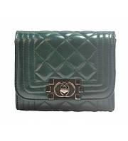Клатч женский Chanel Boy Mini зелёный