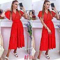 """Сукня жіноча полубатальное на запах, розміри 48-54 (4кол) """"AFINA"""" купити недорого від прямого постачальника"""