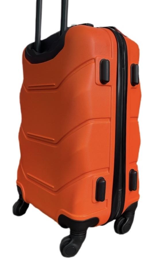 Валіза пластиковий на 4х колесах середній M помаранчевий | 25х65х42 см | 3.150 кг | 62 л | FLY 1093