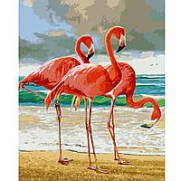 Картина по номерам Фламинго на берегу, 40*50 см, ST в коробке