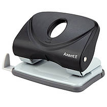 Дирокол для паперу Axent Welle-2 3820-01-A, пластиковий, 20 аркушів, чорний