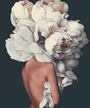Картина за Номерами Жіночні півонії Емі Джадд 40х50см RainbowArt