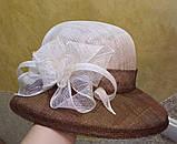 Женская шляпа  на лето из натуральной соломки синамей, фото 3