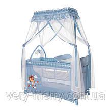 Кровать - манеж с балдахином Lorelli Magic Sleep Синий