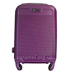Валіза пластикова на 4х колесах середня M фіолетова   25х65х42 см   3.150 кг   62 л   FLY 1093
