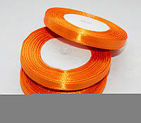 Лента атласная Оранжевая 0.7 см 23 м/бобина