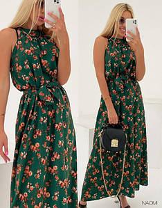 Женское платье в пол. Ткань: Софт ПРИНТ Отличное качество! Размеры: Универсал.