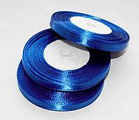 Лента атласная Синяя 0.7 см 23 м/бобина