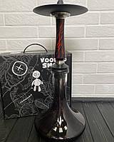 Кальян Voodoo Smoke Down - чорно-червоний з колбою Craft чорної
