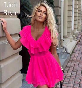 Женское летнее платье. Размер: S M. Ткань: дорогой шифон, приятный к телу по качеству.