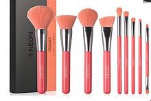 Набір пензлів для макіяжу N1003 Neon Peach (10 шт.)