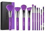Набір пензлів для макіяжу N1002 Neon Purple (10 шт.), фото 2