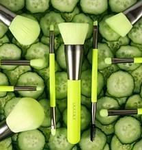 Набір пензлів для макіяжу N1001Neon Green (10 шт.)