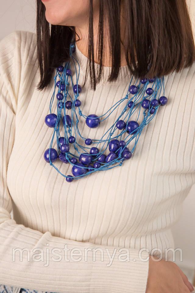 Синее ожерелье фото2