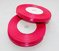 Лента атласная Темно-розовая 0.7 см 23 м/бобина