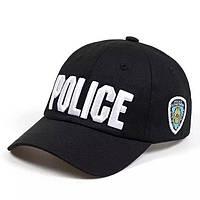 Кепка Бейсболка Police (Полиция) NYC Черная, Унисекс, фото 1