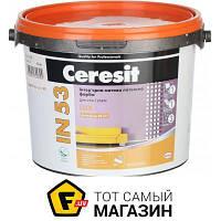 Краска Ceresit Краска интерьерная латексная водоэмульсионная IN 53 Lux База А мат белый 3л