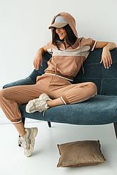 PERRY Спортивный костюм женский летний  - кофейный цвет, S