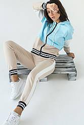 LUREX Спортивный костюм женский с молнией  - голубой цвет, L