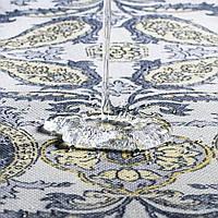 Декоративная ткань вензель золотой 19749v9 тефлон, фото 1