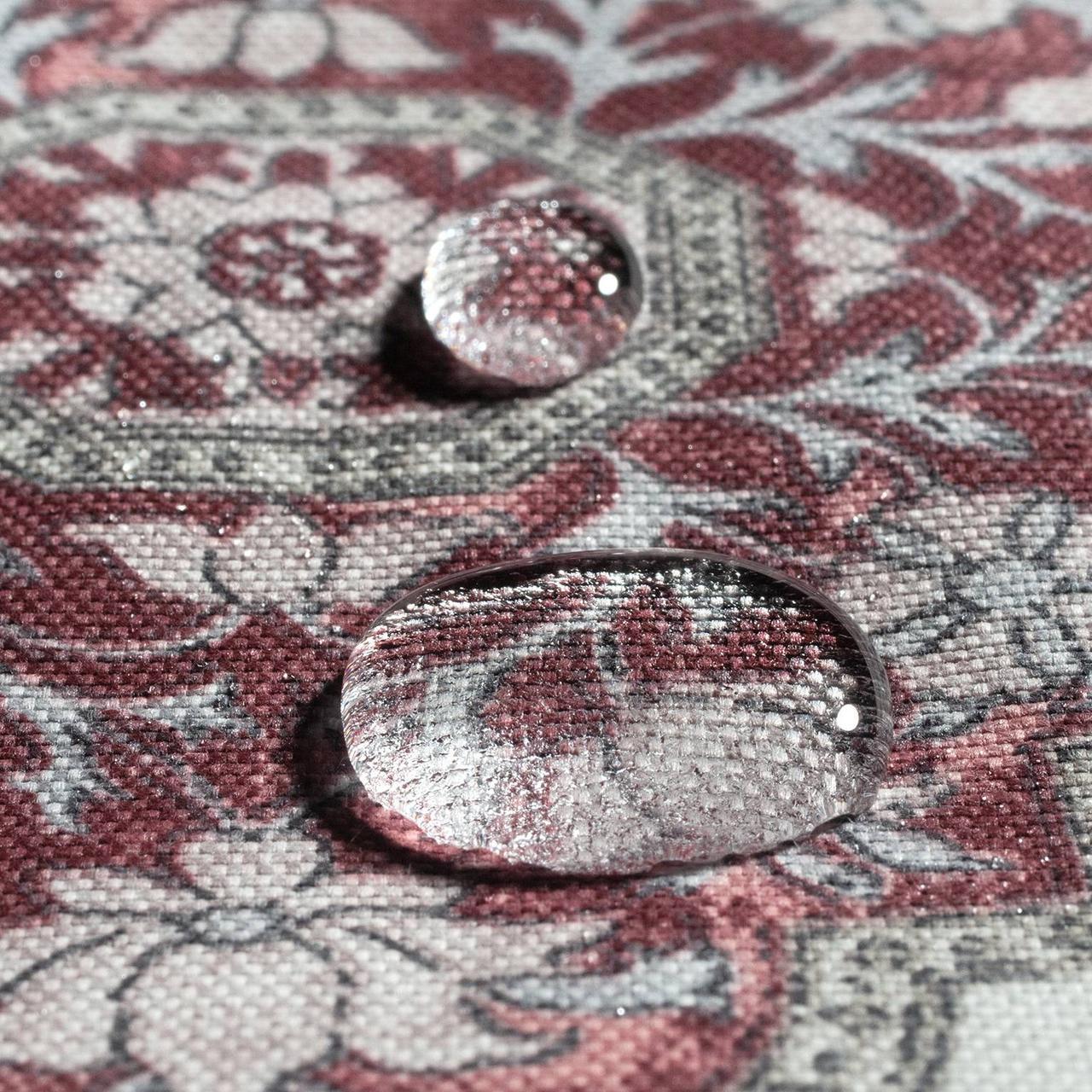 Декоративна тканина вензель рубін 88133v10