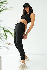 Ello Трикотажный костюм из джоггеров и топа - черный цвет, L