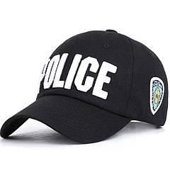 Кепка Бейсболка Police (Полиция) NYC Черная, Унисекс