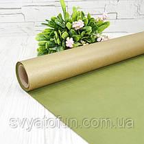 Бумага двухсторонняя крафт зеленая