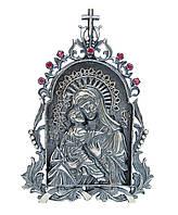 Серебряная икона 5 Владимирская