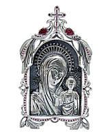 Серебряная икона 4 Казанская