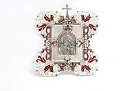 Серебряная икона 2 Казанская эм