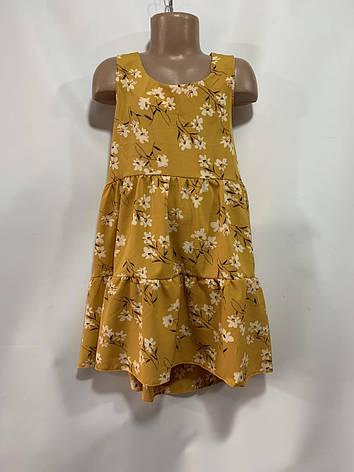 Летнее платье для девочки р. 6-10 лет, фото 2