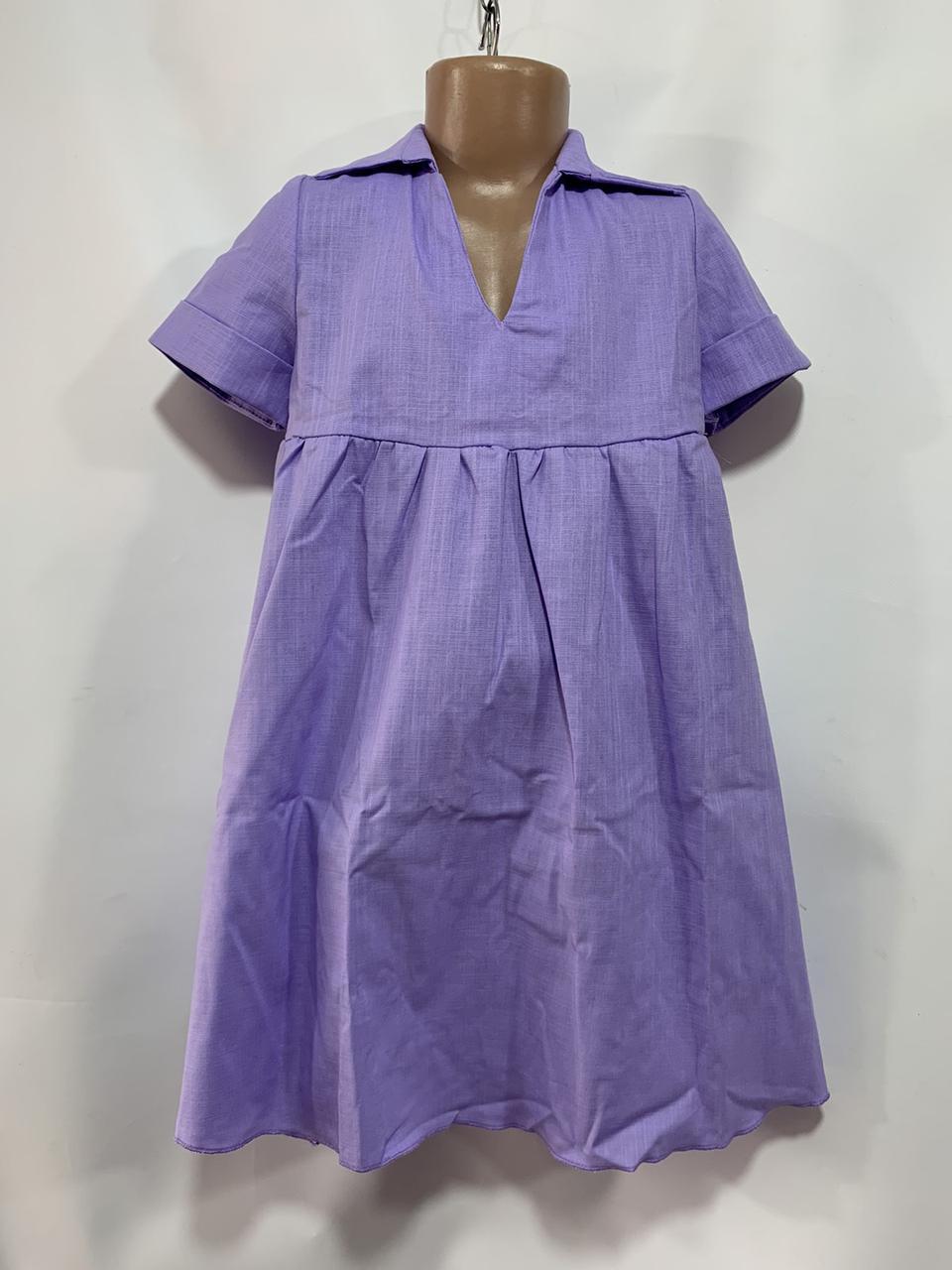 Платье для девочки р. 6-10 лет феолетовое