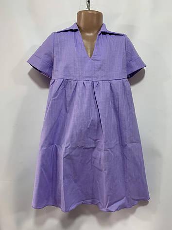 Платье для девочки р. 6-10 лет феолетовое, фото 2