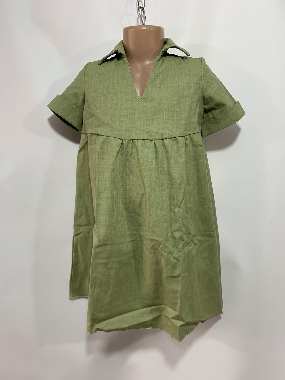 Платье для девочки р. 6-10 лет зеленое