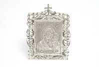 Серебряная икона 7 Казанская