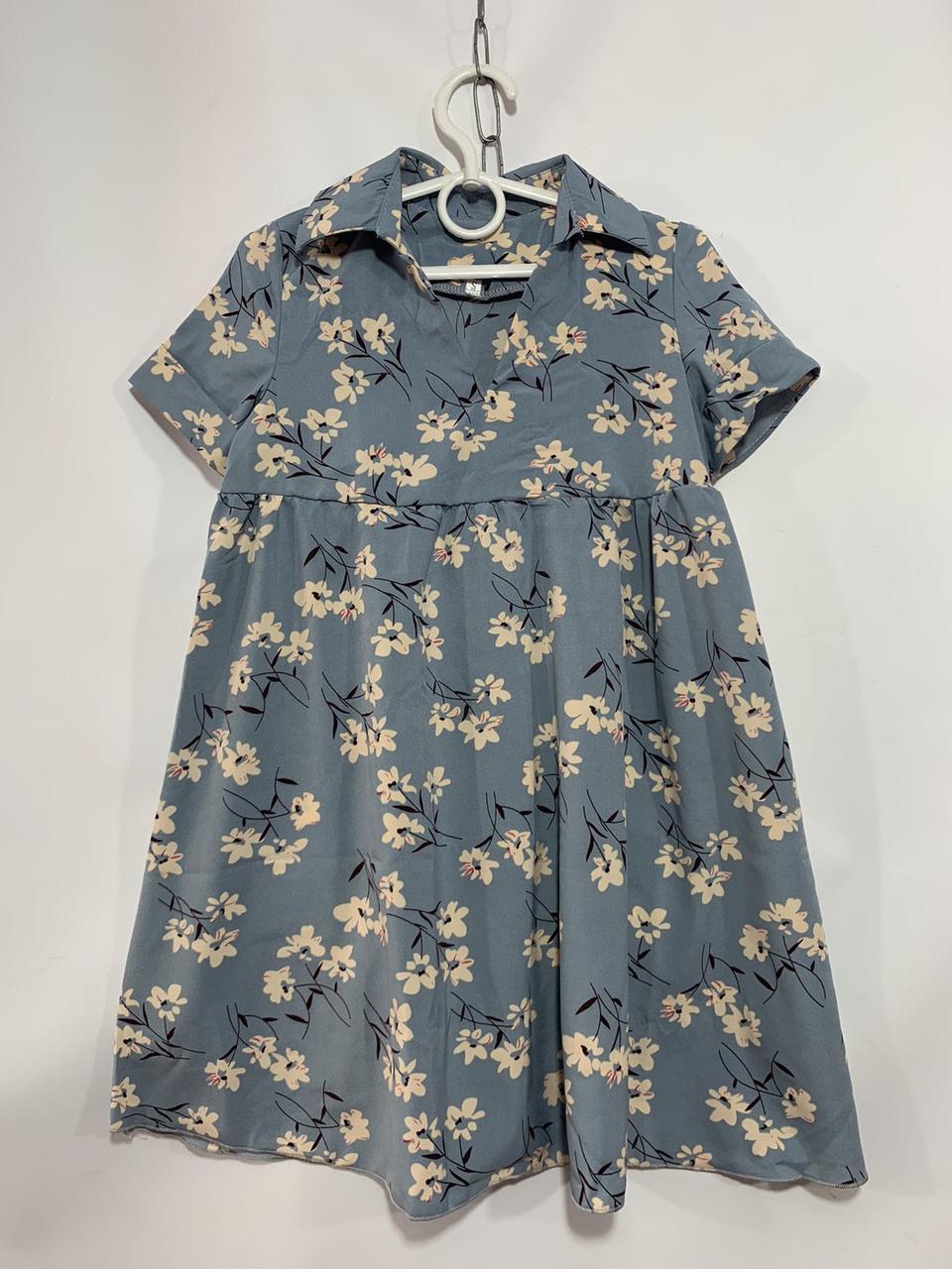 Платье для девочки в цветок р. 6-10 лет