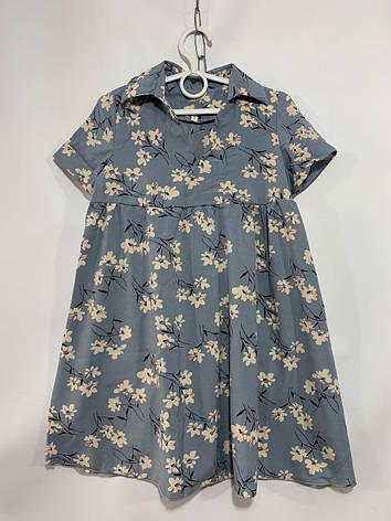 Платье для девочки в цветок р. 6-10 лет, фото 2