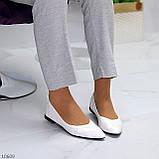 Повсякденні жіночні фактурні м'які білі жіночі балетки 36-23 37-23,5 см, фото 9