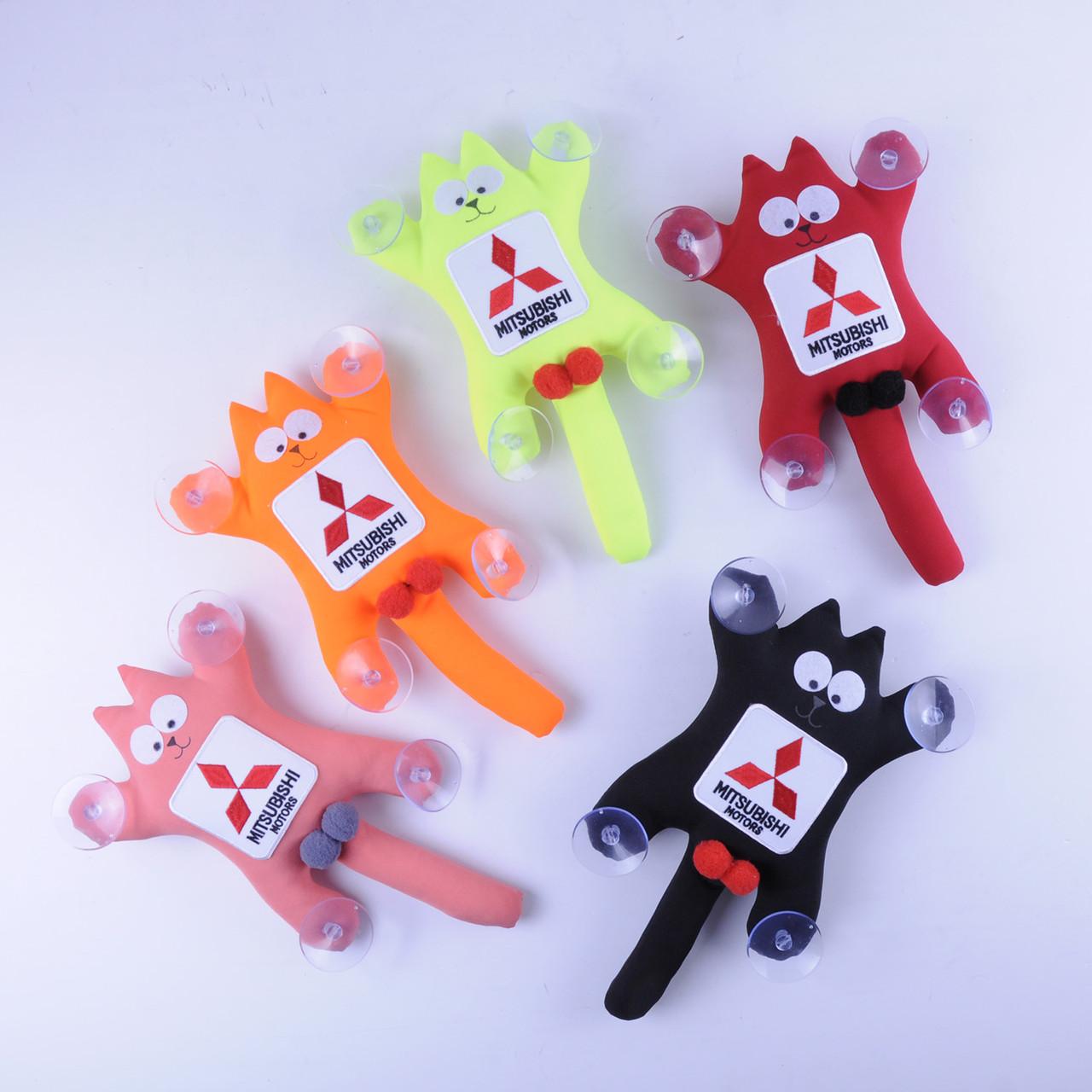 М'яка іграшка Кіт Саймон з лого Mitsubishi (червоний,сірий)