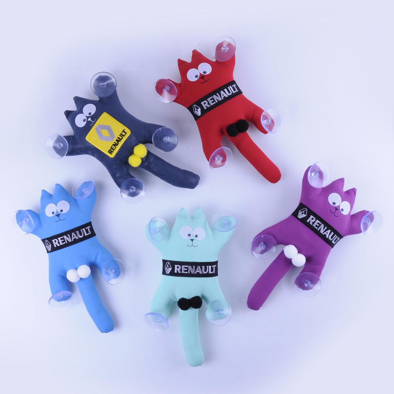 Мягкая игрушка Кот Саймон с лого RENAULT ручная работа